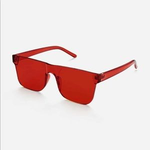Red Flat Top sunglasses